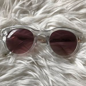Lucky brand clear frame retro style sunglasses